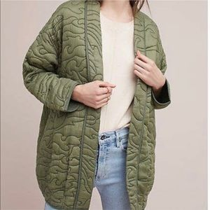 Anthropologie Quilted Kimono Jacket Large